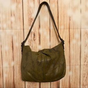 Hobo International green perforated leather bag